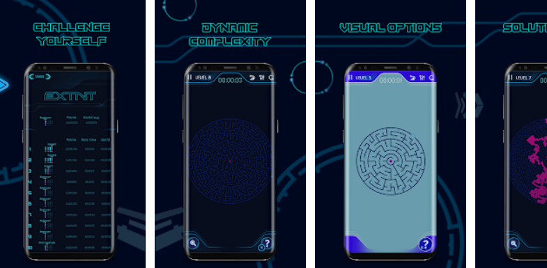 Extnt - A Sophisticated Maze Puzzle Game for Everyone
