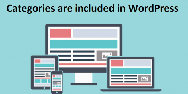 How many Categories are included in WordPress