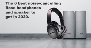 noise cancelling Bose headphones and speaker