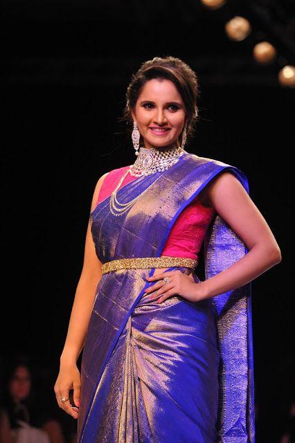Sania Mirza saree