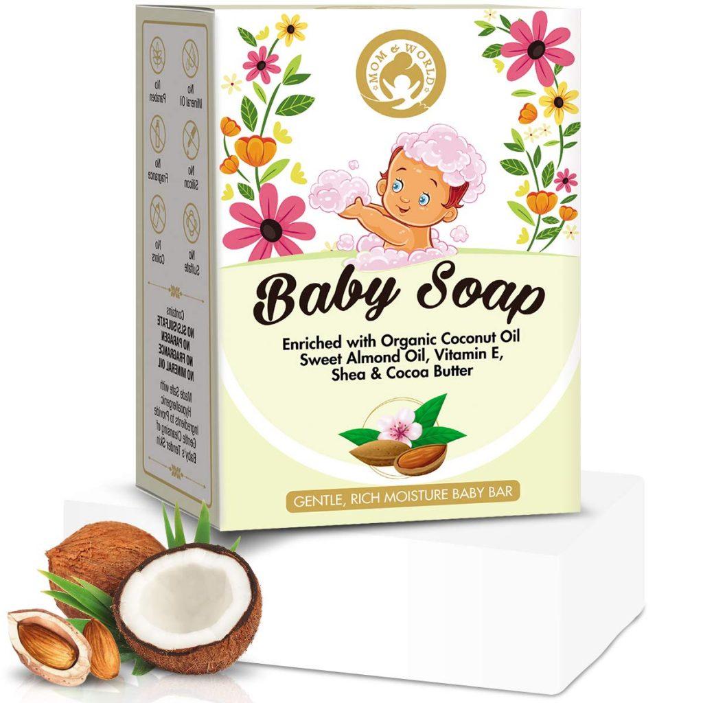 Moms & world natural baby soap