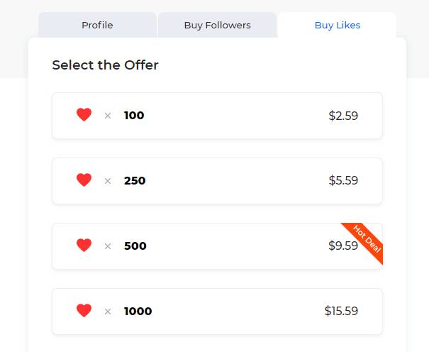 GetInsta Package for Buying Instagram Likes