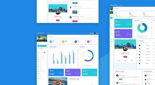 Front-End Development & AngularJS Dashboard Templates