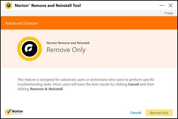Download remove and reinstall tool from Norton.