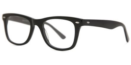 Black Full-Rimmed Rectangle Eyeglasses